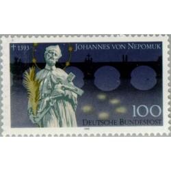 1 عدد تمبر 600مین سالگرد درگذشت یوهان نپوموک مقدس - جمهوری فدرال آلمان 1993