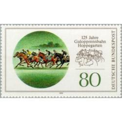 1 عدد تمبر 125مین سال کورس اسبدوانی هوپگارتن - جمهوری فدرال آلمان 1993