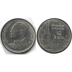 سکه 1 بات - نیکل روکش فولاد - شاه راما نهم - تایلند 2009 غیر بانکی