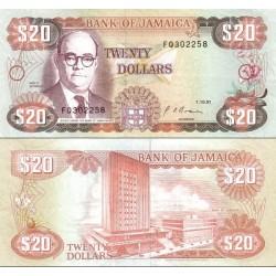 اسکناس 20 دلار - جامائیکا 1991 تاریخ 01.10.1991
