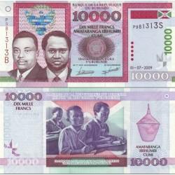 اسکناس 10000 فرانک - بروندی 2009 کیفیت 99% (یک خط  ریز نامحسوس درحاشیه)