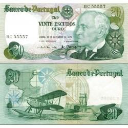 اسکناس 20 اسکودو - پرتغال 1978 تاریخ 13.09.1978