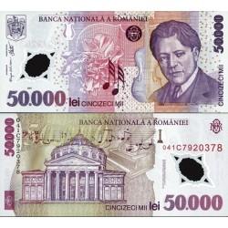 اسکناس پلیمر 50000 لیو - رومانی 2004 پرفیبکس سریال 04