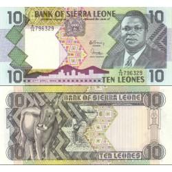 اسکناس 10 لئون - سیرالئون 1988