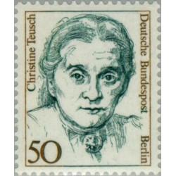 1 عدد تمبر سری پستی زنان نامدار -  Christine Teusch - سیاستمدار - برلین آلمان 1986