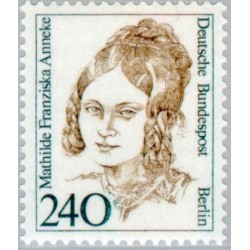1 عدد تمبر سری پستی زنان نامدار -    Mathilde Franziska Anneke- برلین آلمان 1988