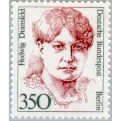 1 عدد تمبر سری پستی زنان نامدار -  Hedwig Dransfeld - سیاستمذار - برلین آلمان 1988 قیمت 9 دلار