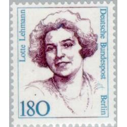 1 عدد تمبر سری پستی زنان نامدار -Lotte Lehmann - موسیقیدان - برلین آلمان 1989 قیمت 5.6 دلار