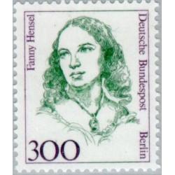 1 عدد تمبر سری پستی زنان نامدار -Fanny Hensel- موسیقیدان - برلین آلمان 1989 قیمت 11 دلار