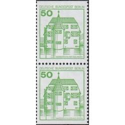2 عدد تمبر سری پستی قلعه ها و کاخها - جفت بوکلتی - 50 فنیک - برلین آلمان 1980