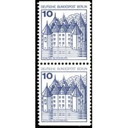 2 عدد تمبر سری پستی قلعه ها و کاخها - جفت بوکلتی - 10 فنیک - برلین آلمان 1977