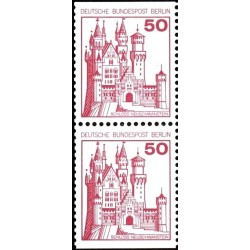 2 عدد تمبر سری پستی قلعه ها و کاخها - جفت بوکلتی - 50 فنیک - برلین آلمان 1977