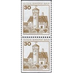 2 عدد تمبر سری پستی قلعه ها و کاخها - جفت بوکلتی - 30 فنیک - برلین آلمان 1977