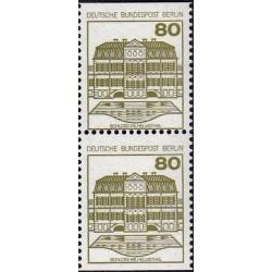 2 عدد تمبر سری پستی قلعه ها و کاخها - جفت بوکلتی - 80 فنیک - برلین آلمان 1982