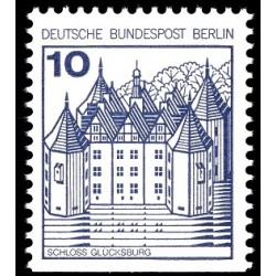 1 عدد تمبر سری پستی قلعه ها و کاخها - پایین بیدندانه - 10 فنیک - برلین آلمان 1977