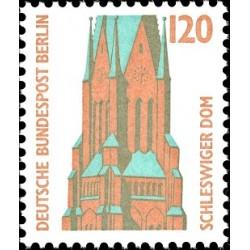1 عدد تمبر سری پستی چشم اندازها - 120 فنیک - برلین آلمان 1988