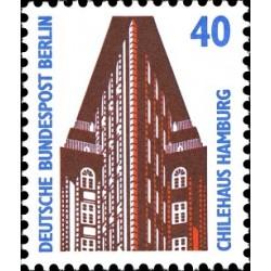 1 عدد تمبر سری پستی چشم اندازها - 40 فنیک - برلین آلمان 1988