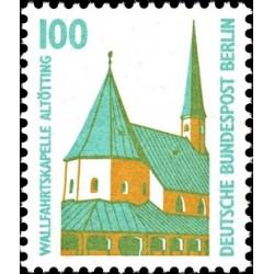1 عدد تمبر سری پستی چشم اندازها - 100 فنیک - برلین آلمان 1989