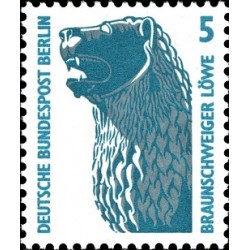 1 عدد تمبر سری پستی چشم اندازها - 5 فنیک - برلین آلمان 1990