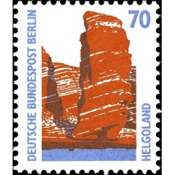 1 عدد تمبر سری پستی چشم اندازها - 70 فنیک - برلین آلمان 1990