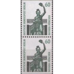 2 عدد تمبر سری پستی چشم اندازها - جفت بوکلتی - 60 فنیک - برلین آلمان 1987