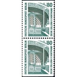 2 عدد تمبر سری پستی چشم اندازها - جفت بوکلتی - 80 فنیک - برلین آلمان 1987