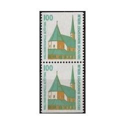 2 عدد تمبر سری پستی چشم اندازها - جفت بوکلتی - 100 فنیک - برلین آلمان 1989