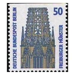 1 عدد تمبر سری پستی چشم اندازها - 50 فنیک - بالا بیدندانه - برلین آلمان 1987
