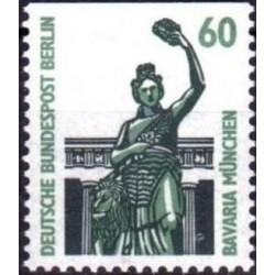 1 عدد تمبر سری پستی چشم اندازها - 60 فنیک - بالا بیدندانه - برلین آلمان 1987