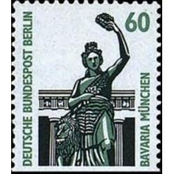 1 عدد تمبر سری پستی چشم اندازها - 60 فنیک - پایین بیدندانه - برلین آلمان 1987