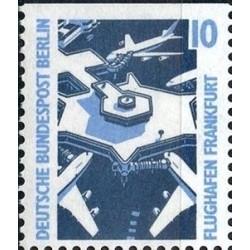 1 عدد تمبر سری پستی چشم اندازها - 10 فنیک - بالا بیدندانه - برلین آلمان 1988