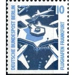 1 عدد تمبر سری پستی چشم اندازها - 10 فنیک - پایین بیدندانه - برلین آلمان 1988