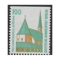 1 عدد تمبر سری پستی چشم اندازها - 100 فنیک - بالا بیدندانه - برلین آلمان 1989