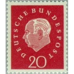 1 عدد تمبر سری پستی پوفسور دکتر هسوس - 20 فنیک - جمهوری فدرال آلمان 1959