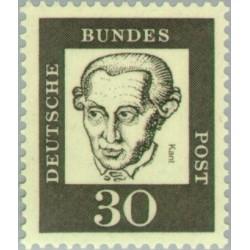 1 عدد تمبر سری پستی جرمن های نامدار - 30 فنیک - امانوئل کانت - جمهوری فدرال آلمان 1961