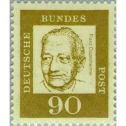 1 عدد تمبر سری پستی جرمن های نامدار - 90 فنیک - پروفسور فرانس اوپنهایمر - جمهوری فدرال آلمان 1961