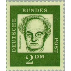 1 عدد تمبر سری پستی جرمن های نامدار - 2 مارک - گرهارد هاوپتمن - جمهوری فدرال آلمان 1961
