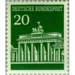1 عدد تمبر سری پستی دروازه برندبورگ - 20 فنیک - جمهوری فدرال آلمان 1966
