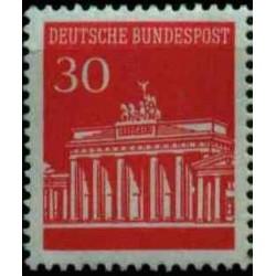 1 عدد تمبر سری پستی دروازه برندبورگ - 30 فنیک - جمهوری فدرال آلمان 1966