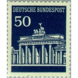 1 عدد تمبر سری پستی دروازه برندبورگ - 50 فنیک - جمهوری فدرال آلمان 1966