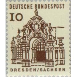 1 عدد تمبر سری پستی ساختمانها آلمان از قرن دوازدهم - 10 فنیک - جمهوری فدرال آلمان 1964