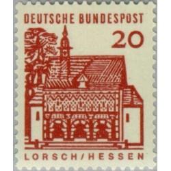 1 عدد تمبر سری پستی ساختمانها آلمان از قرن دوازدهم - 20 فنیک - جمهوری فدرال آلمان 1964