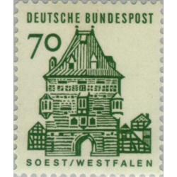 1 عدد تمبر سری پستی ساختمانها آلمان از قرن دوازدهم - 70 فنیک - جمهوری فدرال آلمان 1964