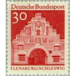 1 عدد تمبر سری پستی ساختمانها آلمان از قرن دوازدهم - 30 فنیک - جمهوری فدرال آلمان 1966
