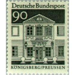 1 عدد تمبر سری پستی ساختمانها آلمان از قرن دوازدهم - 90 فنیک - جمهوری فدرال آلمان 1966
