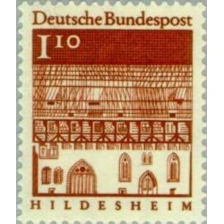 1 عدد تمبر سری پستی ساختمانها آلمان از قرن دوازدهم - 1.1 مارک  - جمهوری فدرال آلمان 1966