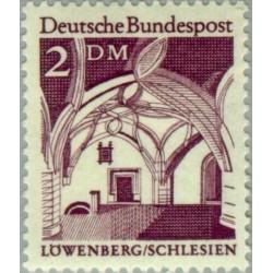 1 عدد تمبر سری پستی ساختمانها آلمان از قرن دوازدهم - 2 مارک  - جمهوری فدرال آلمان 1966