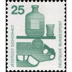 1 عدد تمبر سری پستی اطلاعات راجع به حوادث - 25 فنیک  - جمهوری فدرال آلمان 1971