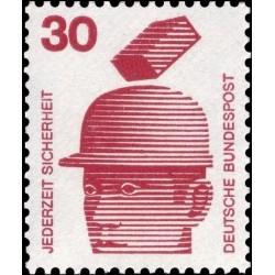 1 عدد تمبر سری پستی اطلاعات راجع به حوادث - 30 فنیک  - جمهوری فدرال آلمان 1971
