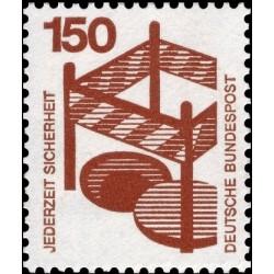 1 عدد تمبر سری پستی اطلاعات راجع به حوادث - 150 فنیک  - جمهوری فدرال آلمان 1971